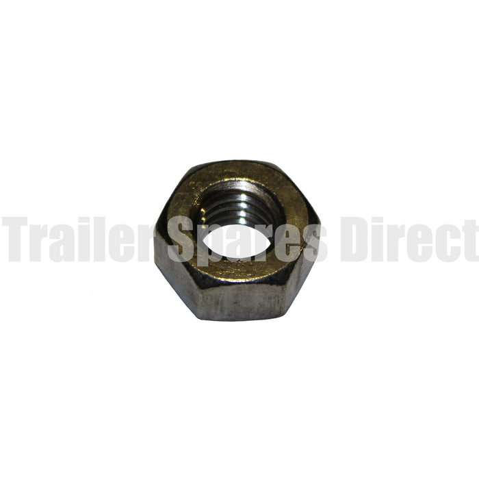 1/2 inch stainless hex nut for 92182 weld-on u-frame bracket