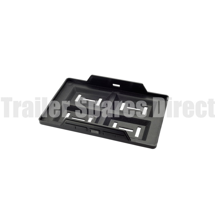 Standard plastic battery tray to suit common battery sizes up to N50Z