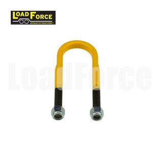 1/2 inch U-bolt 45mm round 150mm long Yellow LoadForce