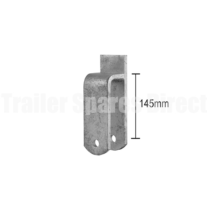 Rocker centre perch galvanised for 45mm trailer springs - 140mm medium