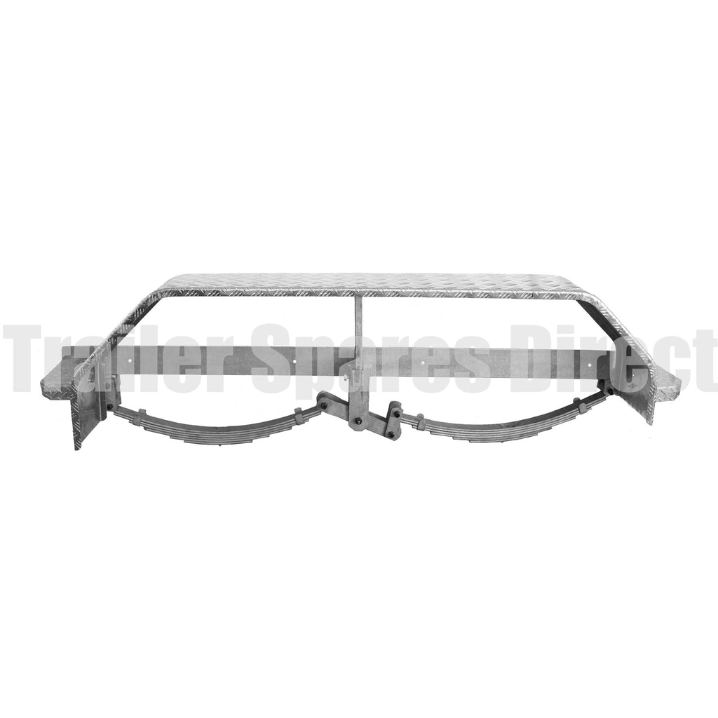 rocker spring suspension beam assembly for boat trailer