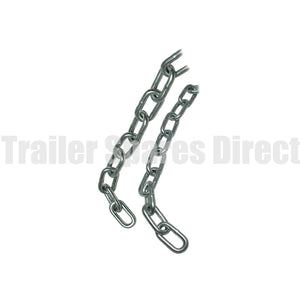 rated trailer safety chain length