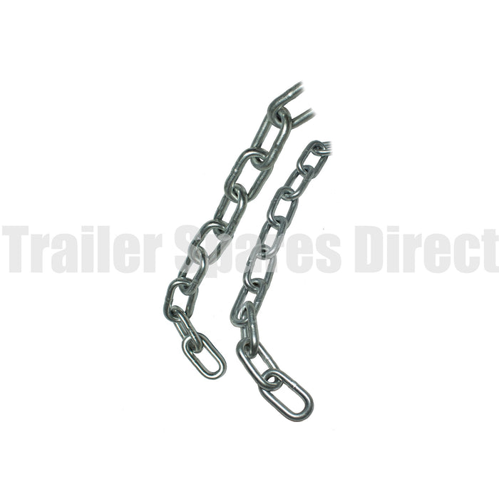 Trailer safety chain 10mm zinc rated 2500kg - 1000mm