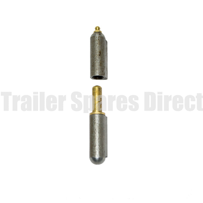 Tailgate greaseable weld-on hinge 16mm diameter x 100mm