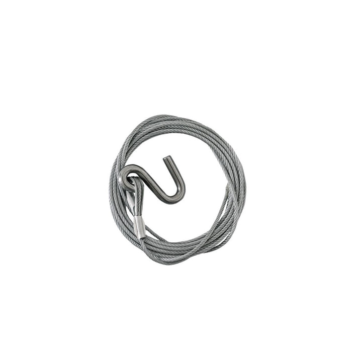 Winch cable 4mm x 6m and hook