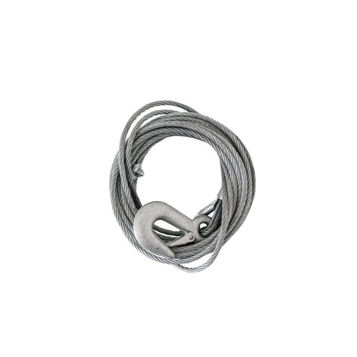 Winch cable 6mm x 7.5m with snap hook