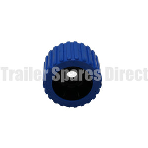 wobble roller ribbed blue