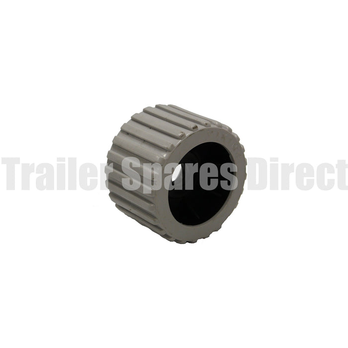 3 inch wobble roller ribbed grey - 26mm centre