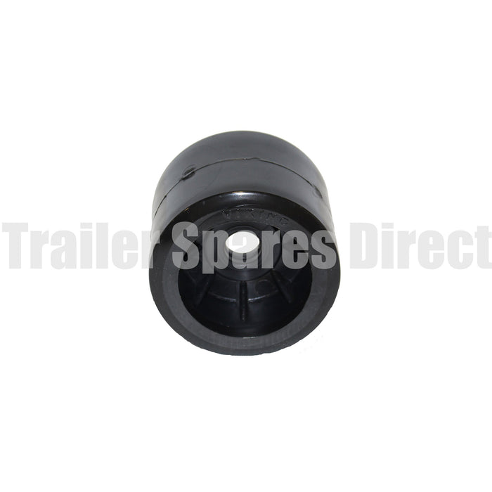 4 inch wobble roller smooth black - 20mm centre