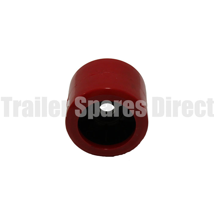 4 inch wobble roller smooth red - 20mm centre