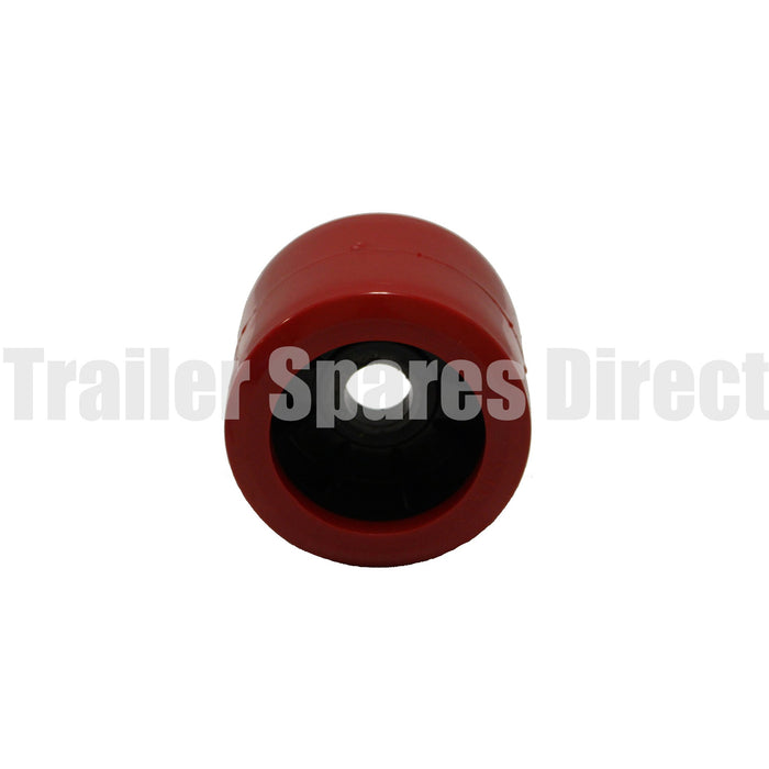 4 inch wobble roller smooth red - 26mm centre