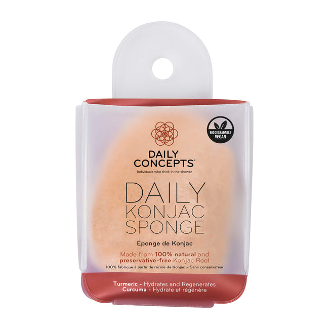 Daily Konjac Sponge - Turmeric by Daily Concepts - Luxury Spa GoodsDaily Konjac Sponge - Turmeric by Daily Concepts - Luxury Spa Goods