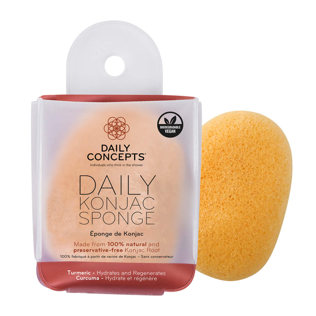 Daily Konjac Sponge - Turmeric by Daily Concepts - Luxury Spa Goods