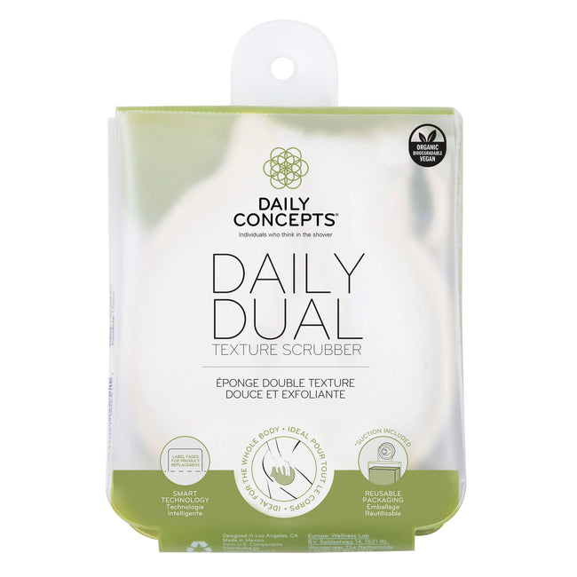Daily Dual Texture Scrubber by Daily Concepts luxury Spa goods
