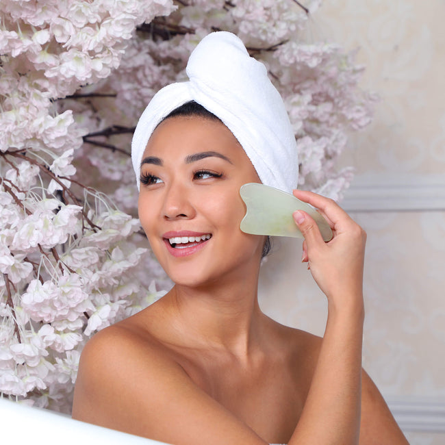 Jade Gua Sha Facial Tool Daily Concepts Luxury Spa Goods