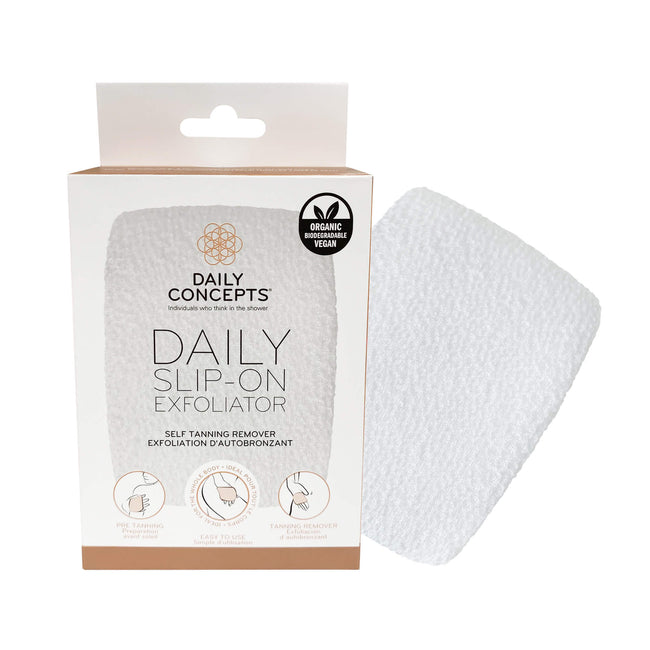 Daily Slip-On Exfoliator by Daily Concepts luxury Spa goods
