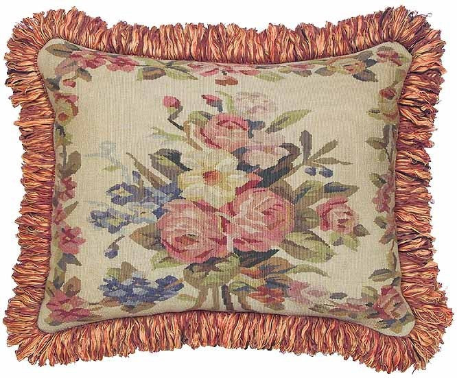"Hot Pinks - 16 x 20 "" Aubusson pillow"
