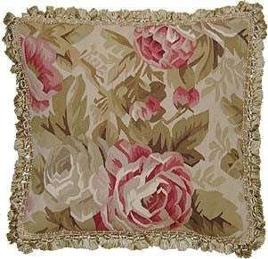 "Pinks Abounding - 23 x 23  "" Aubusson Pillow"