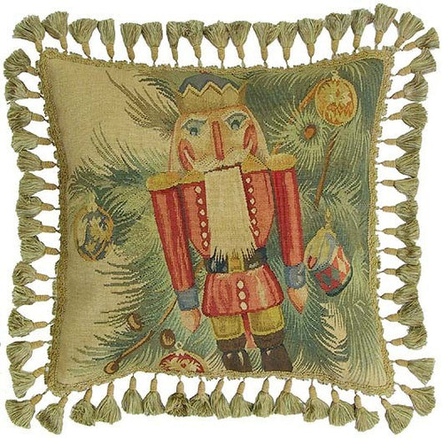 Christmas Nutcracker - 20 x 20 in. Aubusson pillow