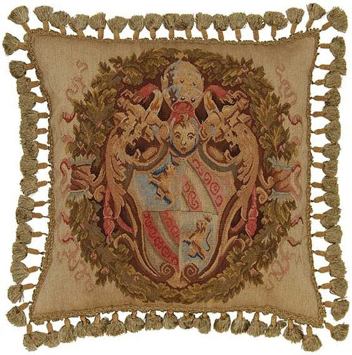 Royal Shield - 22 x 22 in. Aubusson pillow