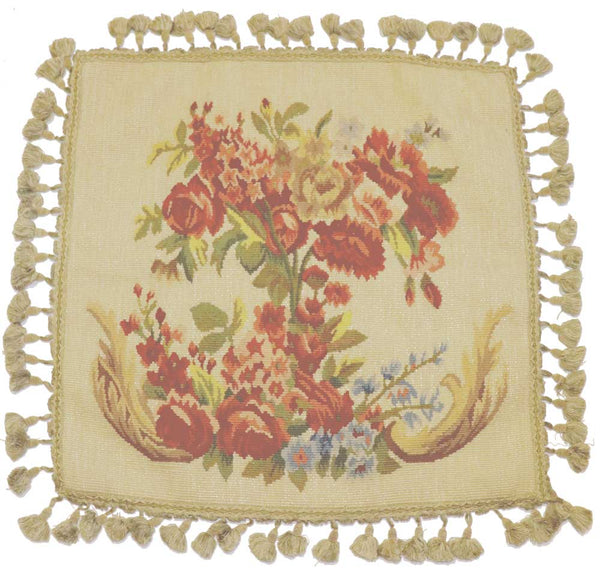 "XX-DZX28-22"" x 22"" Aubusson pillow"