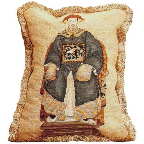 Emperor - 18 x 14 in. needlepoint pillow