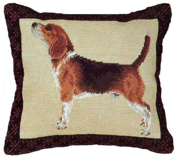 "Beagle - 14 x 16 "" needlepoint pillow"