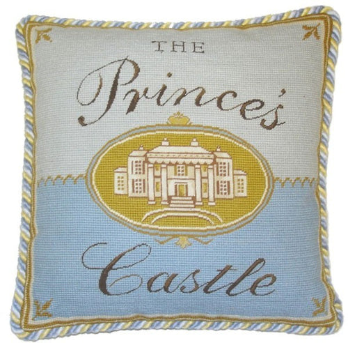 Princes Castle - 17 x 17 in. needlepoint pillow