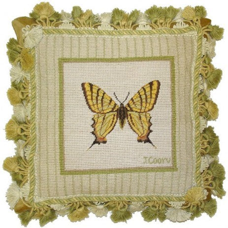 "AA- Swallowtail - 12 x 12 "" needlepoint pillow"