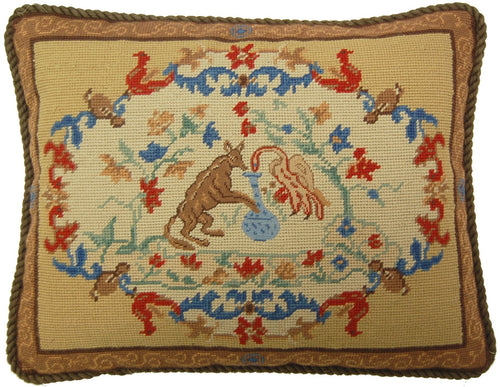 Brown Pattern - Needlepoint Pillow 14x18