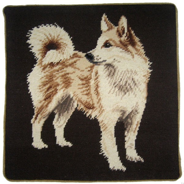 "Spitz - 15 x 15 "" needlepoint pillow"