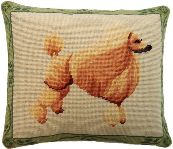 "AA- Poodle - 13 x 15 "" needlepoint pillow"