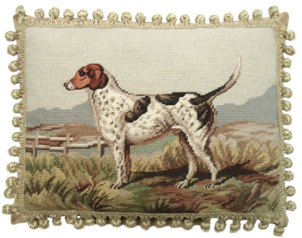"AA- English Foxhound - 14 by 18 "" needlepoint pillow"