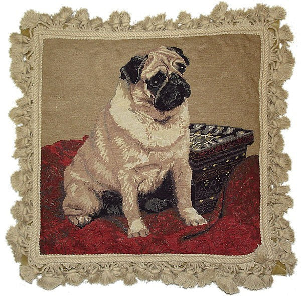 "AA- Royal Dog - 16 x 16 "" needlepoint pillow"