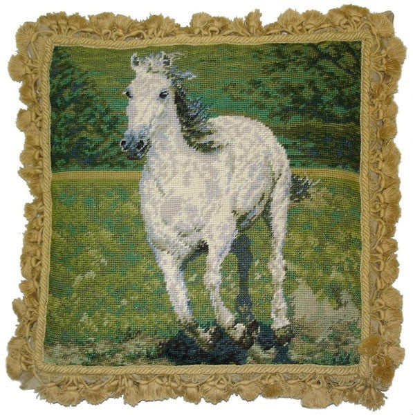 "Here Boy - 18 x 18 "" needlepoint pillow"