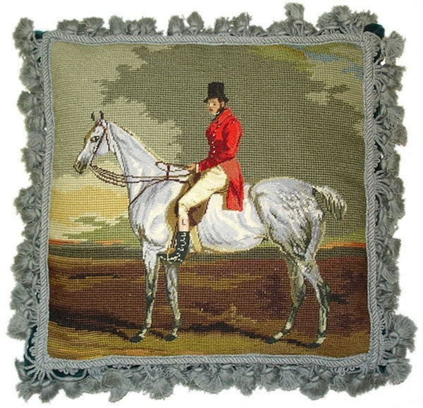 "Horse facing Left - 16 x 16 "" needlepoint pillow"