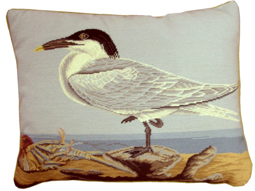 Sea Gull Facing Left - 15 x 19 in. needlepoint pillow