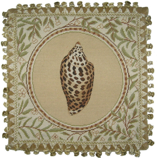 AA- Shell - Needlepoint Pillow 18x18