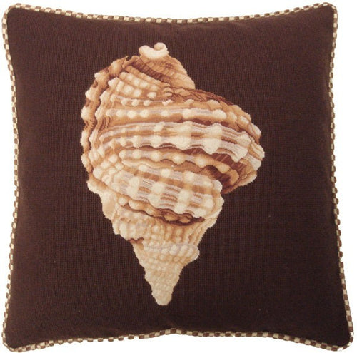 Brown Swirl - 21 x 21 in. needlepoint pillow
