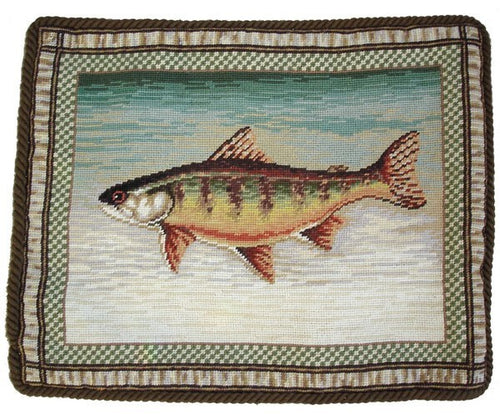 Trout - 17 x 21 in. needlepoint pillow