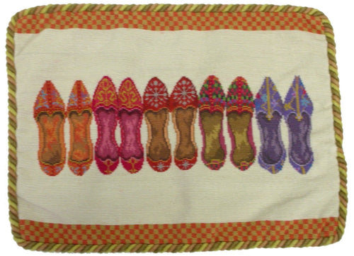 Row of Shoes - Needlepoint Pillow 14x18