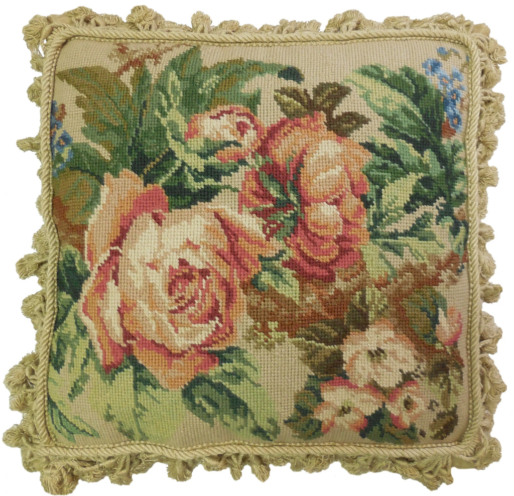 HKHHP3053T - Needlepoint Pillow 16x16