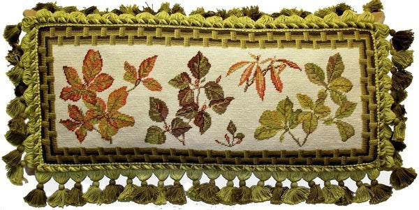 "Autumn Delight - 12 x 22 "" needlepoint pillow"