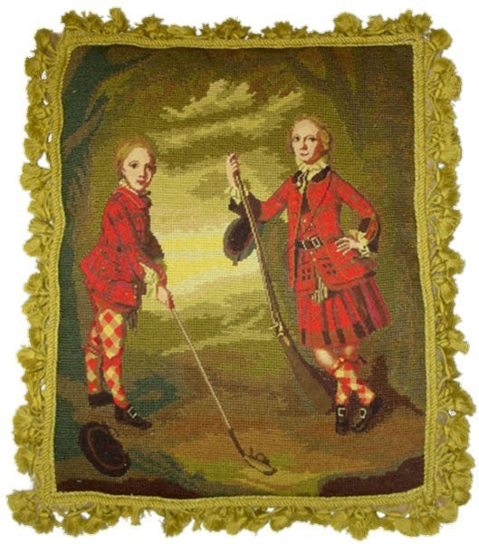 AA- Scottish Golf - 18 x 20 inces needlepoint pillow