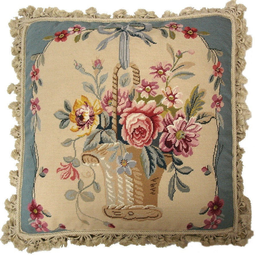 HKHHP4215T - Needlepoint Pillow 22x22