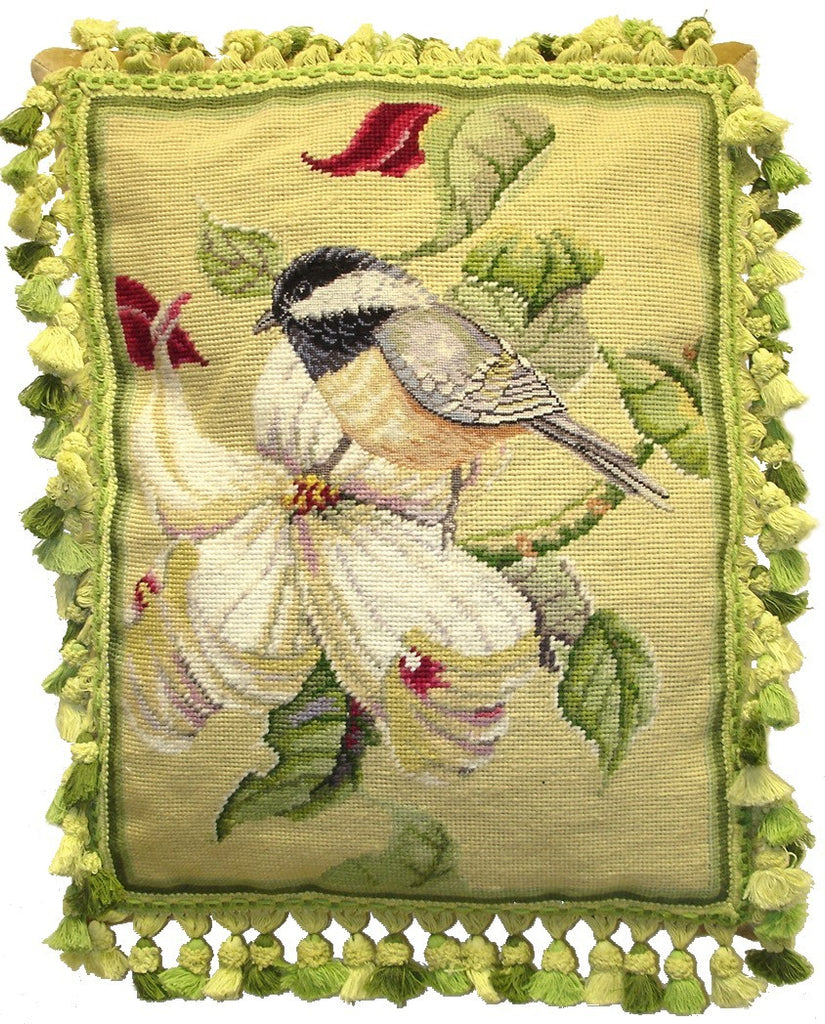 AA- Pretty Bird - Needlepoint Pillow 16x20