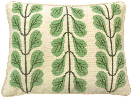 Leaved Stem - Needlepoint Pillow 17x21