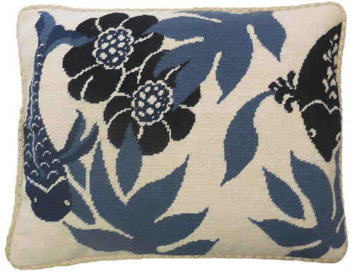 Abstract Blooms - Needlepoint Pillow 17x21