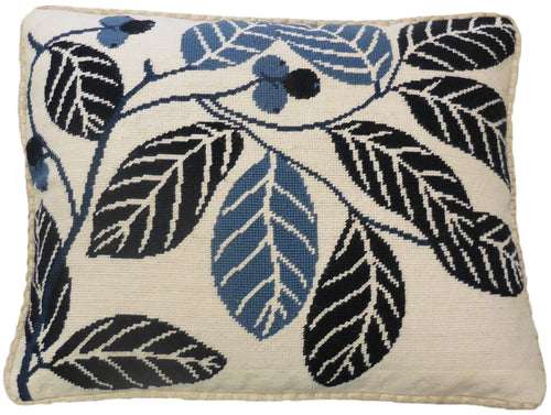 Simple Leaf Pattern - Needlepoint Pillow 17x21