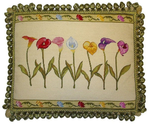 Seven Callas - 16 x 20 in. needlepoint pillow